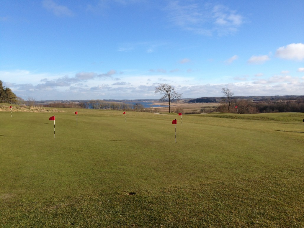 Putting green ved stor bane